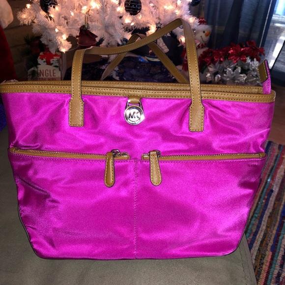 f7d5d7988b5f Michael Kors Bags | Hot Pink Satin Purse | Poshmark
